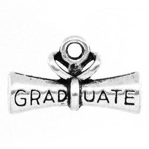 Antique Silver Tibetan Zinc Graduation Diploma Charms 21mm Pack Of 5 ZX04375
