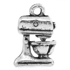 Antique Silver Tibetan Zinc Food Mixer Charms 16mm Pack Of 12 ZX04585