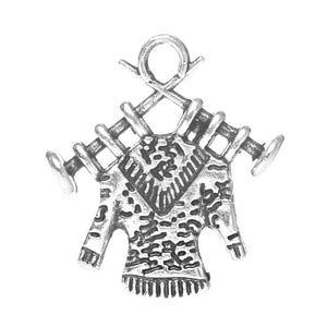 Antique Silver Tibetan Zinc Knitting Charms 19mm Pack Of 10 ZX04860