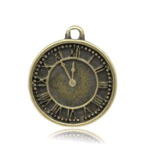 Steampunk Antique Bronze Tibetan Zinc Clock Charms 19mm Pack Of 10 ZX05785