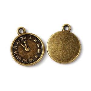 Steampunk Antique Bronze Tibetan Zinc Clock Charms 16mm Pack Of 10 ZX05860