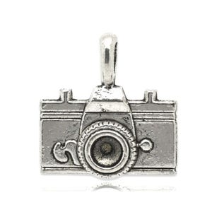 Antique Silver Tibetan Zinc Camera Charms 22mm Pack Of 5 ZX05890