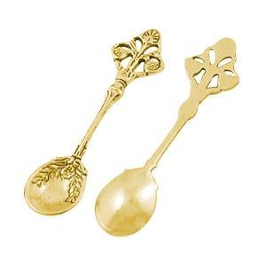 Antique Gold Tibetan Zinc Spoon Pendants 60mm Pack Of 4 ZX05920