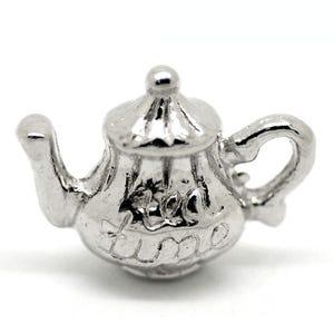 Antique Silver Tibetan Zinc Tea Pot Charms 16mm Pack Of 3 ZX05995