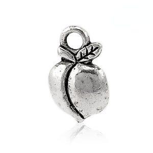 Antique Silver Tibetan Zinc Peach Charms 14mm Pack Of 10 ZX06135