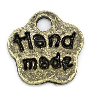 Steampunk Antique Bronze Tibetan Zinc Hand Made Charms 8mm Pack Of 30 ZX06395