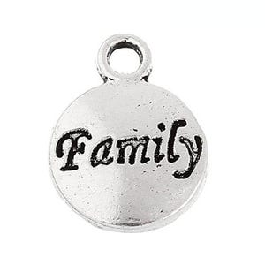 Antique Silver Tibetan Zinc Family Charms 15mm Pack Of 10 ZX06475