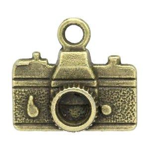 Steampunk Antique Bronze Tibetan Zinc Camera Charms 16mm Pack Of 10 ZX06990