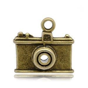 Steampunk Antique Bronze Tibetan Zinc Camera Charms 23mm Pack Of 3 ZX07185