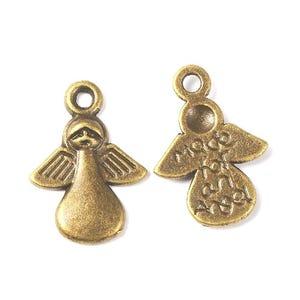Antique Bronze Tibetan Zinc Made For An Angel Charms 18mm Pack Of 20 ZX07375