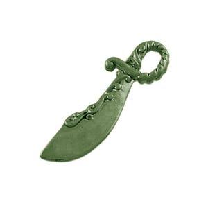 Antique Bronze Tibetan Zinc Pirate Cutlass Sword Pendants 25mm Pack Of 20 ZX08765