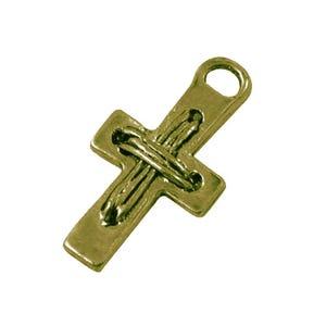 Steampunk Antique Bronze Tibetan Zinc Cross Charms 23mm Pack Of 10 ZX08865
