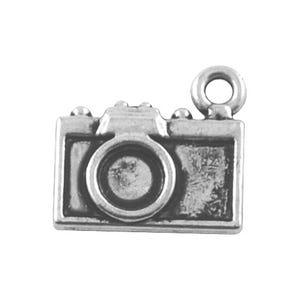 Antique Silver Tibetan Zinc Camera Charms 14mm Pack Of 10 ZX08880