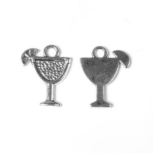 Antique Silver Tibetan Zinc Cocktail Charms 17mm Pack Of 12 ZX09250
