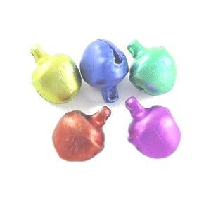Multicolour Tibetan Zinc Mixed Christmas Jingle Bell Charms 7mm Pack Of 100+ ZX09435
