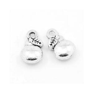 Antique Silver Tibetan Zinc Pear Charms 12mm Pack Of 10 ZX09960
