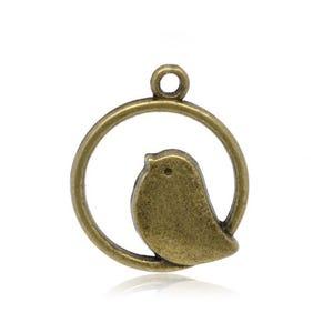 Steampunk Antique Bronze Tibetan Zinc Bird Charms 24mm Pack Of 20 ZX10180