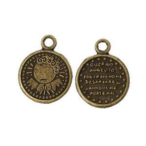 Steampunk Bronze Tibetan Zinc Coin Charms 21mm Pack Of 10 ZX10470