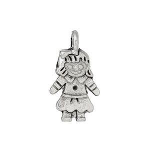Antique Silver Tibetan Zinc Girl Charms 16mm Pack Of 20 ZX10510