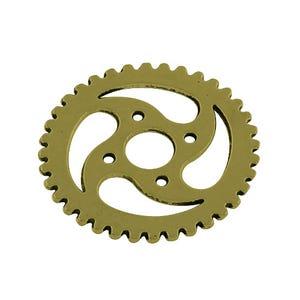 Steampunk Antique Bronze Tibetan Zinc Gear Pendants 30mm Pack Of 10 ZX11095