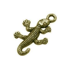 Steampunk Antique Bronze Tibetan Zinc Lizard Pendants 25mm Pack Of 10 ZX11430