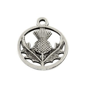Antique Silver Tibetan Zinc Thistle Charms 19mm Pack Of 20 ZX11535