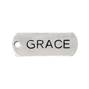 Antique Silver Tibetan Zinc Grace Charms 21mm Pack Of 5 ZX12595