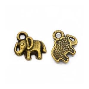 Steampunk Antique Bronze Tibetan Zinc Elephant Charms 11mm Pack Of 30 ZX14010