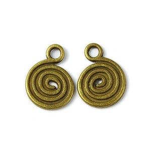 Antique Bronze Tibetan Zinc Celtic Swirl Pagan Charms 18mm Pack Of 20 ZX14115
