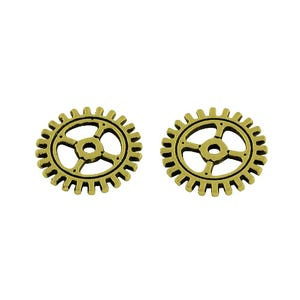 Steampunk Antique Bronze Tibetan Zinc Gear Charms 12mm Pack Of 30 ZX15355