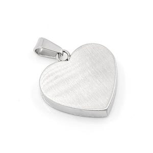 Silver 304 Stainless Steel 22mm x 23mm Heart Stamping Blank  ZX20055